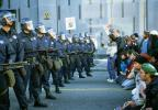 Police Line, Batons, Helmets, Anti-war protest, First Iraq War, January 17 1991, PRSV04P05_12