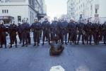 Police Line, Batons, Helmets, Anti-war protest, First Iraq War, January 17 1991, PRSV04P05_18