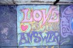 Love is the Answer, Chalk Painting, Sidewalk, 2nd Iraq War Protest Rally, Crowds, Protesting War, PRSV07P14_06