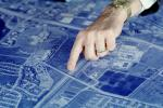 blue print, Architectural Renderings, Drawings, Paper, Map, hand, pointing, PWWV02P10_02