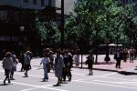 lunchtime, downtown, suits, walking, crowded, people, crosswalk, PWWV02P14_18