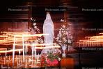 Virgin Mary Statue, Praying, Candles, Altar, Flowers, La Madeleine Church