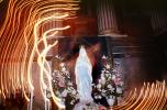 Mother Mary with candlelight swirl, La Madeleine Church, Eglise de la Madeleine