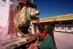 Golden Dragon, Shrine, buildings, people, Lhasa, RCTV03P09_16.2648