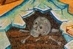 Part of the Tile mosaic above the Stone of Unction The Church of the Holy Sepulchre, Jerusalem