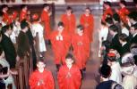 Church, Altar Boys in Red Robes, Service, March 1968