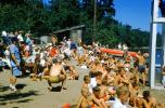 boys, Crowds, People, beach, sand, lake, outdoors, outside, Forest, 1950s, RVCV01P02_02