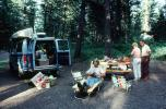 Canoe, Van, Lounge, Table, Trees, 1970s