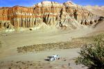 Erosion, Layers, Airstream Trailer, Chevy, Chevrolet, Red Rock Canyon State Park, March 1959, 1950s