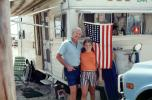 Father and Daughter, Holiday Ramblers, Trailer Camping, Daytona Beach, Florida, April 1976, 1970's, RVCV02P10_09