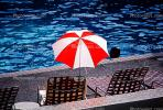 Parasol, Umbrella, Empty Lounge Chairs