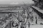 Crowded Beachfront, promenade, crowds, beach, shoreline, Sochi, Black Sea, Ships, RVLPCD2930_026