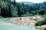 Beach, canoe, river, Redwood Forest, woodlands, cars, Monte Rio California