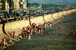 Seawall, Ocean-Beach, beach, sand, people, People, cars, highway