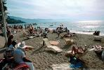 Lounge Chairs, Beach, Crowds, Sand, Sun Worshippers, Pacific Ocean, Puerto Vallarta