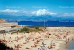 beach, crowds, crowded, sun worshippers, Sand, Antibes
