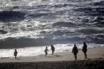 Kids playing with the Waves, White Water, Montara Beach, Pacific Ocean, California