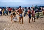 Sand, Pacific Ocean, Waikiki Beach, Honolulu, 1956, 1950's