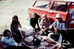 Picnic on the side of the road, girls, car, station wagon, 1960s, RVPV01P10_08