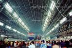 Hot Air Balloons inside the Dirigible Airship Hangar, Moffett Field, People, Crowds, SBLV01P09_09