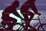 Riding Bicycles, Tiburon Linear Park, Bay, water, SBYV03P01_19