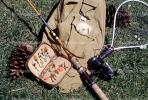 Bait and Tackle, Net, Fishing Pole, Pinecone, Hooks, Fishing Vest, lure, fly