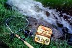 Lures, Hooks, Fishing Tackle, Net, River, Stream, Reel