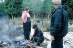 Wilderness cooking, Camp Fire, Manitoba, Canada, 1970, 1970's, SFIV03P01_11
