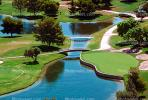 golf course, water hazard, lake, putting green, paths, bridges, trees