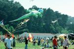 Alligator Kite, People, Crowds, Buildings, Opening Day, Crissy Field, Celebration, May 6, 2001, Lizard, SKTV01P14_06