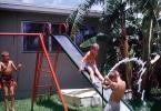 Slide, Brothers, Backyard, 1963, 1960s, SWFV01P09_07