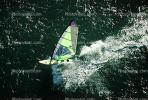 Windsurfer, water, wave, San Francisco Bay, California, SWSV01P13_08