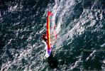 Windsurfer, water, wave, San Francisco Bay, California, SWSV01P13_13