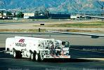 Mercury Fuel Truck, Refueling, Burbank-Glendale-Pasadena Airport (BUR), Ground Equipment, Fueling, tanker