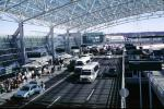 Arrivals, Arch Lattice Roof, Shuttle Buses, Terminal, building