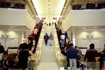 Escalator, International Terminal, (SFO), steps, stairs, crowds, people, TAAV11P01_18