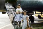 Girls, Stairs, Mohawk Airlines, dress, female, airstairs, July 1961, 1960's, TAAV15P12_11