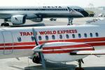 N752BA, Trans World Airlines TWA, SAAB 340A, Boeing 757, Delta Air Lines