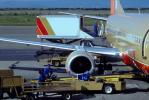 Boeing 737, Southwest Airlines SWA, CFM56 Jet Engine, Belt Loader, (BUR), CFM56, CFM56-3B1