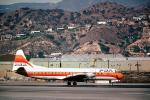 N6130A, PSA, Pacific Southwest Airlines, Lockheed L-188A Electra, Burbank-Glendale-Pasadena Airport BUR, Toto, February 1978, 1970s