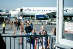N605JB, Airbus A320-232 series, JetBlue Airways, Blue Yonder, disembarking passengers