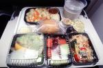 Airplane Food Tray, Dinner, Bread, Salad, Drink, Cup, TAIV02P06_05