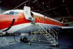 N554PS, PSA, Pacific Southwest Airlines, Boeing 727-214A, Hangar, Mobile Stairs, Rampstairs, ramp, JT8D, 727-200 series, TAOV01P03_05B