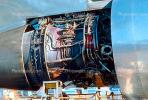 Maintenance on a Jet Engine, N147UA, Boeing 747-SP21, 747SP series, JT9D, JT9D-7A, TAOV01P04_07.1696