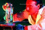 Flask, liquid, hand, gloves, Lab Technician, face, TCLV01P07_16