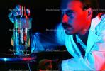 Flask, liquid, hand, gloves, Lab Technician, face, TCLV01P07_19