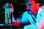 Flask, liquid, hand, gloves, Lab Technician, face, TCLV01P08_03