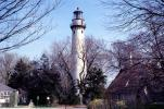 Grosse Point Harbor Lighthouse, Evanston, Illinois, Lake Michigan, Great Lakes, TLHV03P01_04