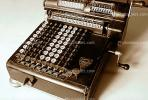 Mechanical Adding Machine, Antique, Old-fashioned, keyboard, 1930's, TMAV01P02_01.2644