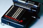 Mechanical Adding Machine, Antique, Old-fashioned, keyboard, 1930's, TMAV01P02_02